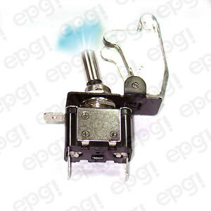 On off Spst 3p Blue Illuminated Toggle Switch W transparent Cover 662051 665016