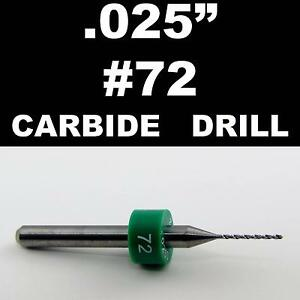 025 0 63mm 72 One Carbide Drill Bit Models Hobby Pcb Cnc Dremel R s