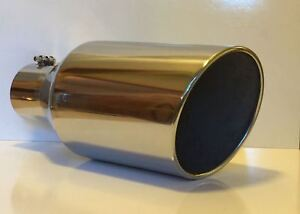Dodge 304 Stainless Diesel Exhaust Tip 4 Inlet 8 Outlet 18 Long