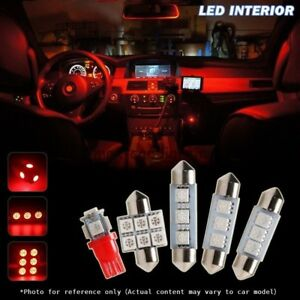 7pcs Red Interior Car Led Lights Kit For 2006 2008 Honda Civic Coupe