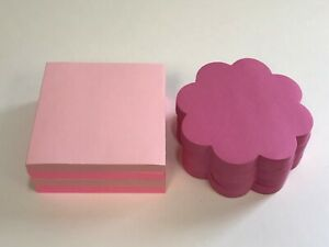 8 Pads Post it Pop up Notes 3 X 3 Pink Variety 75 Sheets Each