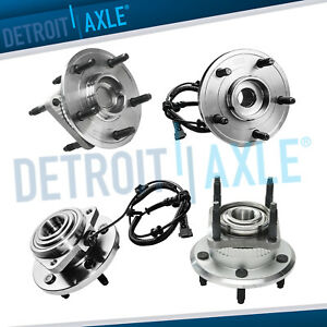 4pc Front Rear Wheel Bearing Hub Jeep Grand Cherokee Commander 3 0l 3 7l 4 7l