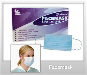Disposable Dental Medical Surgical Dust Nail Salon Earloop Face Mouth Masks 500