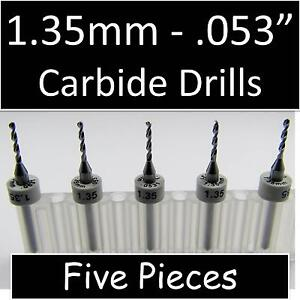 053 1 35mm Five Carbide Drill Bits Models Hobby Pcb Cnc Dremel R s