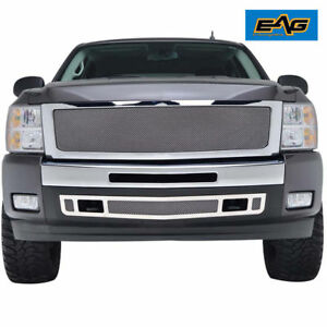 07 13 Silverado 1500 Grille Stainless Steel Chrome Wire Mesh Replacement W shell