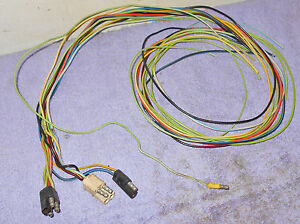 1969 Cougar Xr7 Eliminator Trunk Tail Light Harness To Under Dash Wiring Plugs