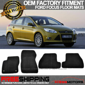 Fit 11 15 Ford Focus Oe Factory Floor Mats Carpet Front Rear Nylon Black