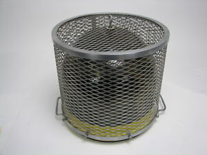 Glass Bell Jar Heavy Duty Cage 12 1 2 h X 13 3 4 w Pyrex Corning Ware Usa