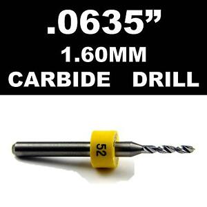 0635 1 60mm 52 One Carbide Drill Bit Models Hobby Pcb Cnc Dremel R s