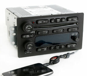 Chevy Gmc 2003 2005 Truck Radio Am Fm 6 Disc Cd W Aux Input On Pigtail 15196055