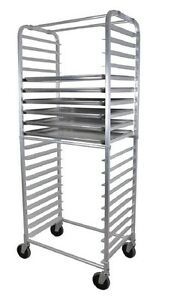 Side Load Bun Pan Rack Rounded Top Stores 20 Pans w Casters Bbk abpr 2s