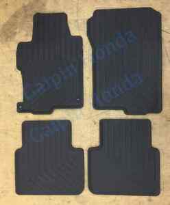 13 17 Genuine Oem Honda Accord 4dr Black All Season Floor Mat Set 08p13 t2a 110