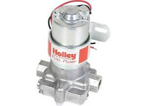 Holley 12 801 1 Red Electric Fuel Pump 97 Gph External Aluminum Polished