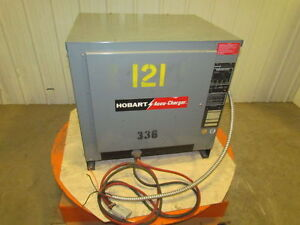 Hobart Accu charge Forklift Battery Charger 600c3 12 3 Phase 24 Volts 12 Cells