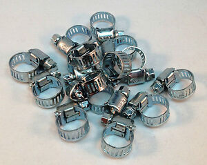 15 Pcs Stainless Steel Drive Hose Clamps Worm Clips 3 8 1 2 8 12 Mm