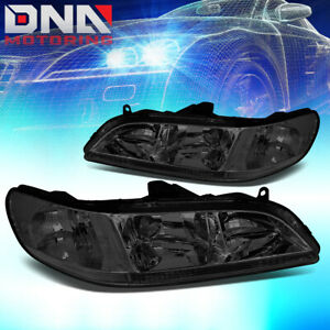 For Honda Accord 1998 2002 2dr 4dr Jdm Smoked Housing Clear Corner Headlights