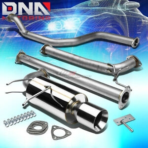 4 Rolled Tip Stainless Steel Exhaust Catback System For Integra Da9 Db B17 B18
