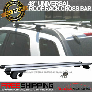 Fit 48 In Roof Rail Roof Rack Cross Bar Clamps Luggage Carrier Aluminum