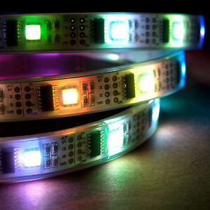 5m Rgb Led Light Strip 5v Ws2801 32 Leds meter Ip68 Waterproof Addressable Color