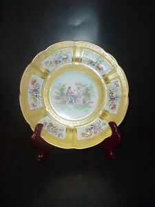 Saxe Crown Porcelain Cabinet Collector S Plate Love Scene