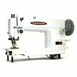 New Consew 205rb Walking Foot Sewing Mach W Servo 3 4hp Motor And Kd Table Comp