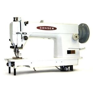 New Consew 205rb Walking Foot Sewing Mach W Servo 3 4hp Motor And Kd Table 205