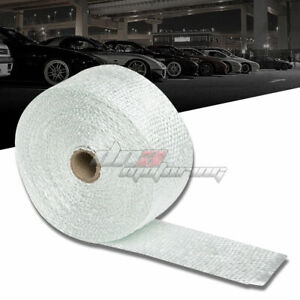 25 Feet 2 Motor cycle Header Exhaust Turbo Intake Manifold White Heat Wrap Roll