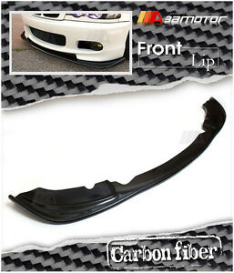 Carbon Fiber Hm Front Lip Spoiler For Bmw E46 325i 328i 330i M tech Ii Bumper