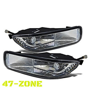 For 2003 2004 Toyota Corolla Clear Lens Chrome Housing Fog Lights Lamps Kit