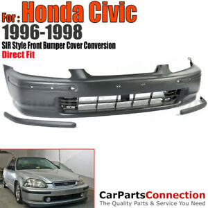 Sir Style Conversion Front Bumper Cover With Molding For 96 98 Honda Civic Ek