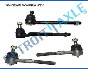 New 4 Kit Front Inner Outer Tie Rod Ends For F 150 Navigator 2wd Rwd