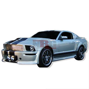 For Mustang 2005 2009 Ford Eleanor S Side Skirts Pair Fiberglass S 152s