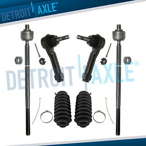 4 Inner Outer Tie Rod Ends Boots For Chrysler Town Country Dodge Caravan