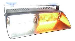 Warningworx Amber White Led Interior Deck Dash Windshield Emergency Strobe Light