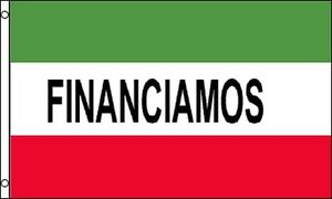 Financiamos Flag 3x5 Ft Red White Green Business Sign Financing Finance Spanish