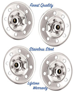 15 Wheel Cover Hubcaps Cars Trucks Trailers Polished Stainless Steel Six Lug