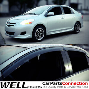 Wellvisors Window Visors 2007 2012 For Toyota Yaris Sedan Side Deflectors
