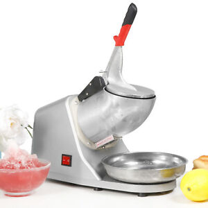 Commercial Ice Shaver 300w Electric Snow Cone Crusher Maker Machine 143lbs