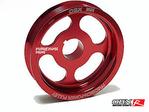 Obx Underdrive Crank Pulley For 2002 To 2006 Acura Rsx Type s Tsx Accord Red
