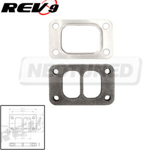 Rev9 T3 Turbo Divided Turbo Exhaust Manifold Adapter Flange Gasket Steel