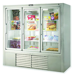 Leader 79 Commercial Freezer Case With Swing Glass Doors self contained