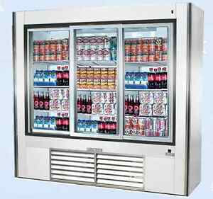 Leader 72 Commercial Refrigerated Soda Case With Sliding Doors self contained