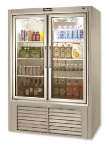 Leader 54 Commercial Refrigerated Soda Case With Swing Doors self contained
