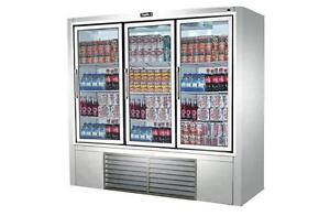 Leader 79 Commercial Refrigerated Soda Case With Swing Doors self contained