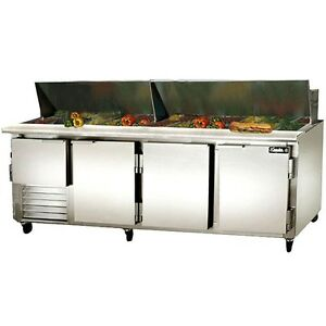 Leader 96 Commercial Bain Marie Sandwich Prep Table Cooler self contained