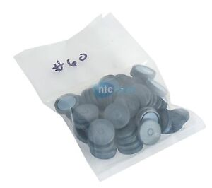 Unknown Mfg Gray Rubber Stoppers For Serum Vial Seal 60 Unknown Quantity