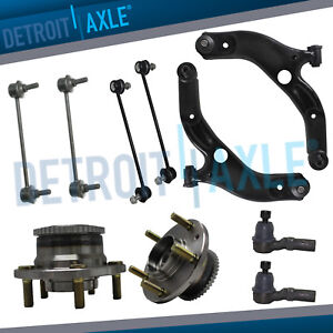 1999 2003 Mazda Protege Lower Control Arm Ball Joint Wheel Bearing Tierod Kit