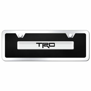 Trd Chrome Black Acrylic Mini Front License Plate Toyota Racing Novelty
