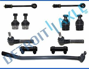 11pc Complete Front Tie Rods Suspension Kit For 1992 1997 Ford F 350 4x4