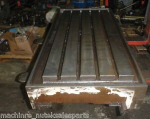 43 X 19 75 X 3 Steel Weld T slotted Table Cast Iron Layout Plate 4 T Slot Jig